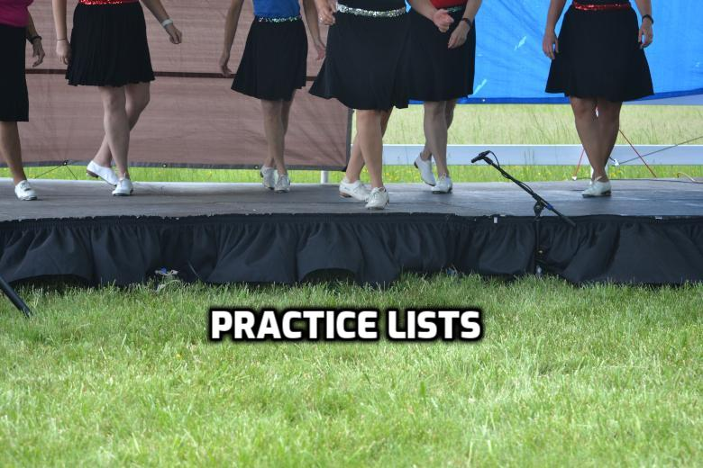 Practice Lists for the Skyline Country Cloggers